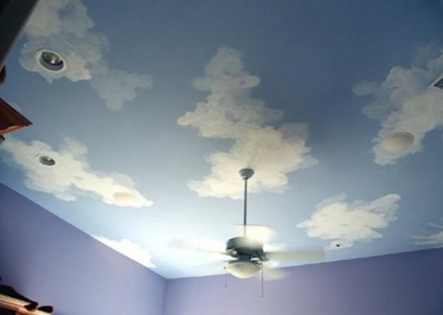 Как своими руками нарисовать облака на потолке