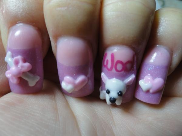 3d-puppy-nail-art